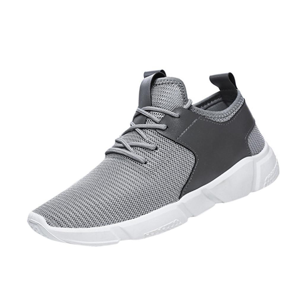 Zapatos de hombre Zapatillas de deporte para hombres Moda Correas Excursionismo Deportes Corriendo Casual Sólido Zapatos LMMVP (Gris, 44): Amazon.es: ...