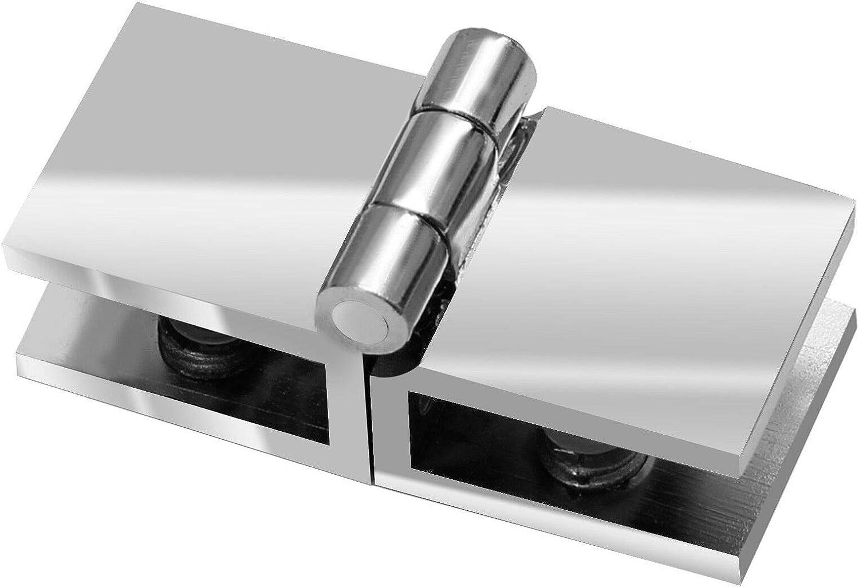 Glast/ür Scharnier 6-8,76mm T/ürbeschlag T/ürband Glas Vitrine 6mm 8mm innenanschlag aufliegend Model C