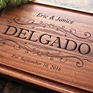 Personalized Engraved Cutting Board - Simple Name Design for Wedding or Anniversary Gift. (#002)