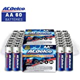 ACDelco AA Batteries, Alkaline Battery, 60 Count