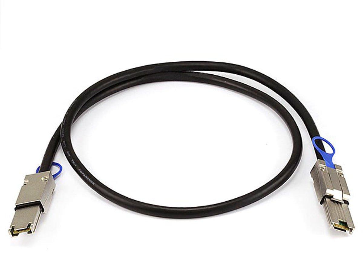 Monoprice 1m 28AWG External Mini SAS 26-Pin SFF-8088 Male to Mini SAS 26-Pin SFF-8088 Male Cable, Black (108184)