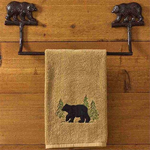 Park Designs Cast Bear Towel Bar - - Figural Painted Hand