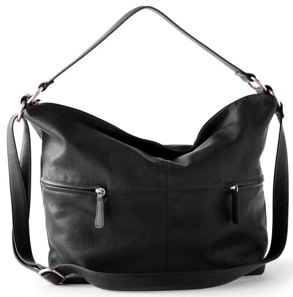 Osgoode Marley Cashmere Alexis Leather Hobo Black