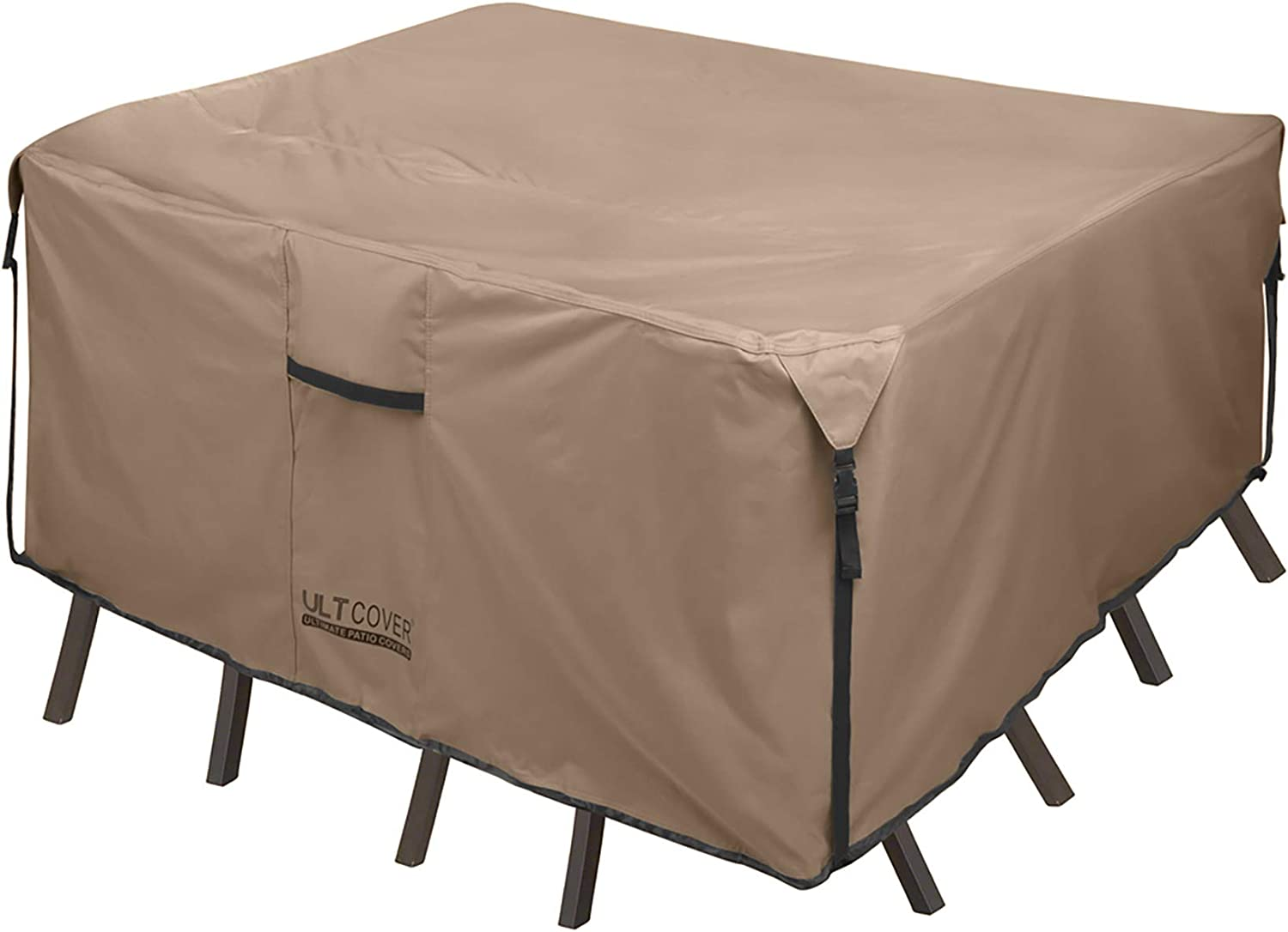 Amazon Com Ultcover Square Patio Heavy Duty Table Cover 600d Tough Canvas Waterproof Outdoor Dining Table And Chairs General Purpose Furniture Cover Size 54 Inch Garden Outdoor