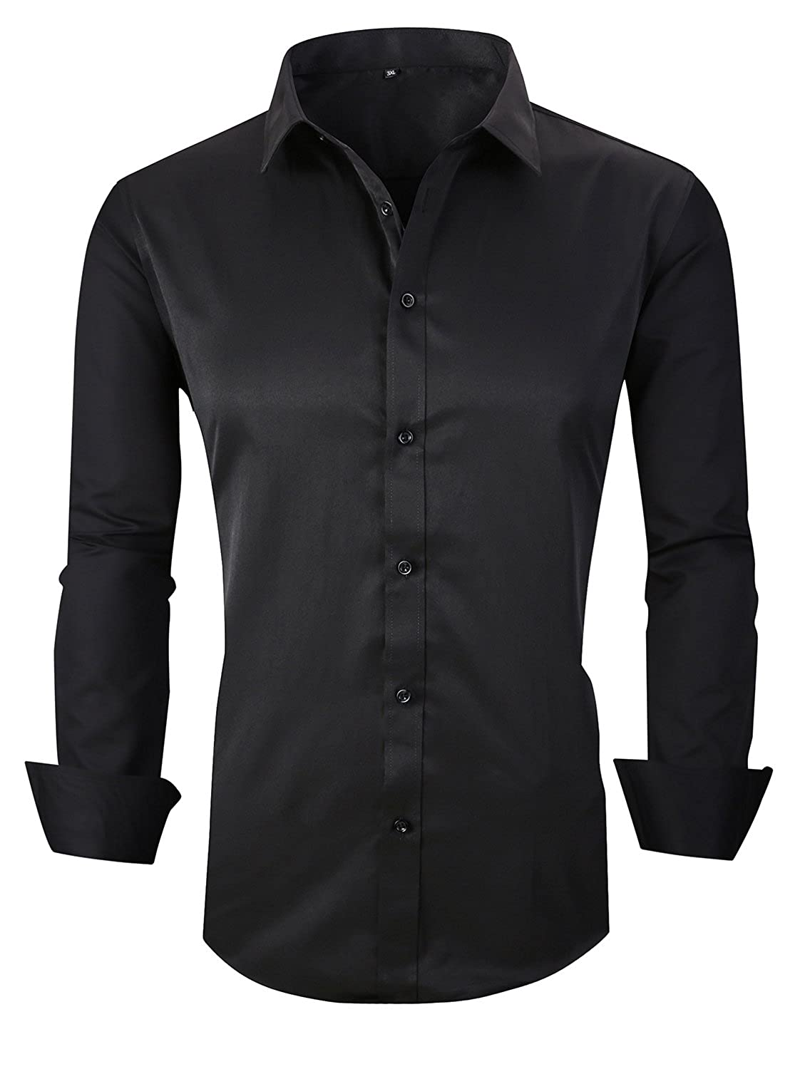 JHVYF Mens Long Sleeve Button Down Dress Shirts Business Casual Slim Fit Shirt