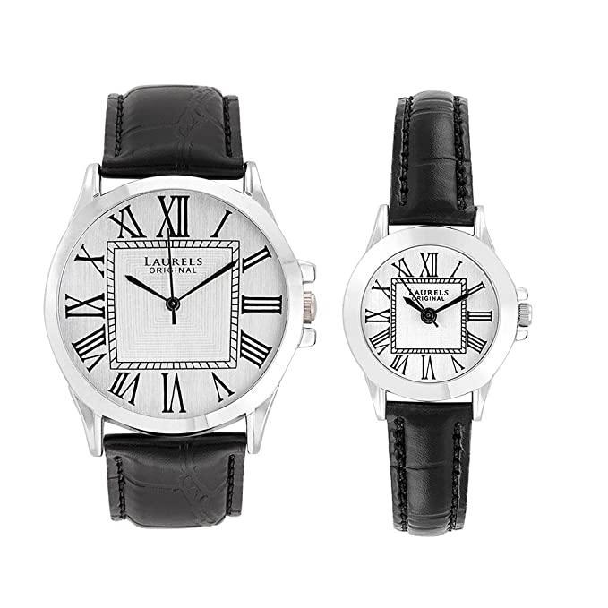 Liberal 2 Analog Silver Dial Couple's Watch ( Lo-Lib-201)