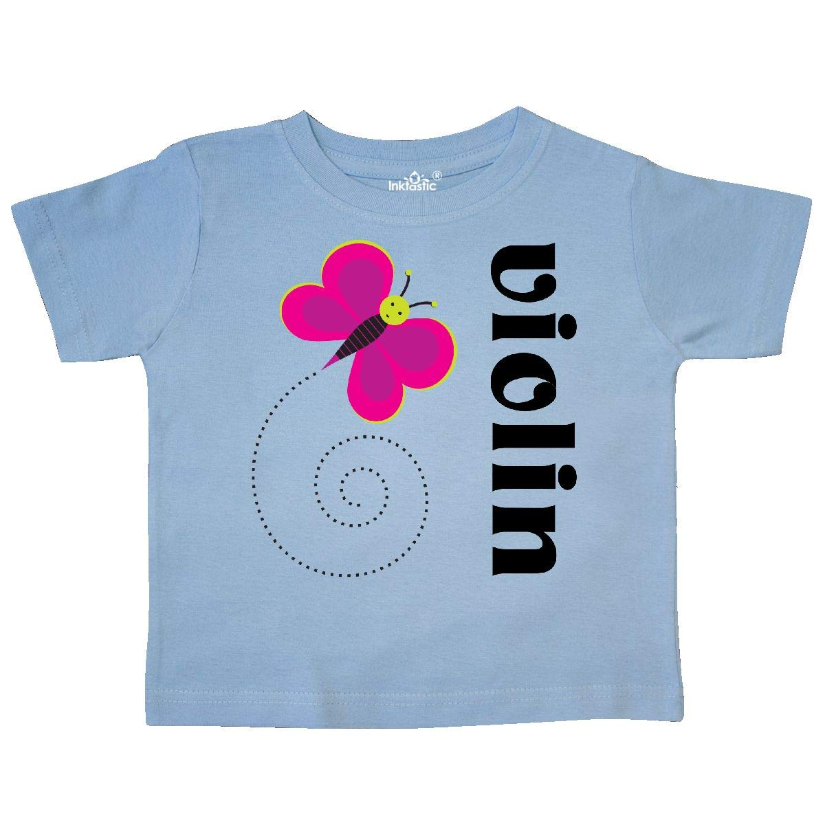 inktastic Violin Music Butterfly Toddler T-Shirt