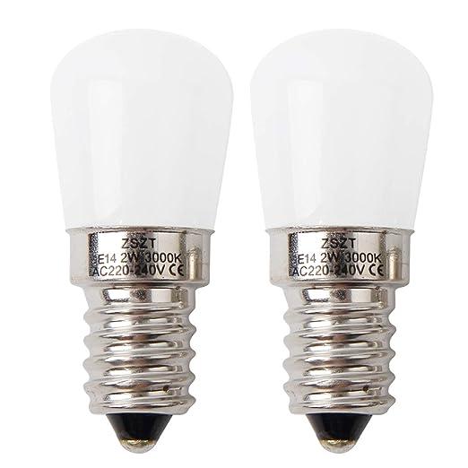E14 Bombilla de la campana de la cocina del refrigerador del LED, ZSZT 2W (