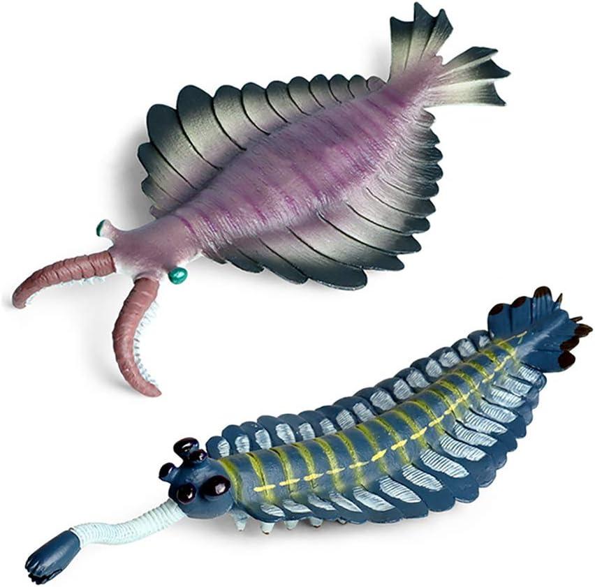 DOYIFun Ancient Realistic Obabin Sea Scorpion Shrimp Model Toys 2 Pcs, Simulated Sea Life Animals Figurine Collection Sea Creature Science Educational Props