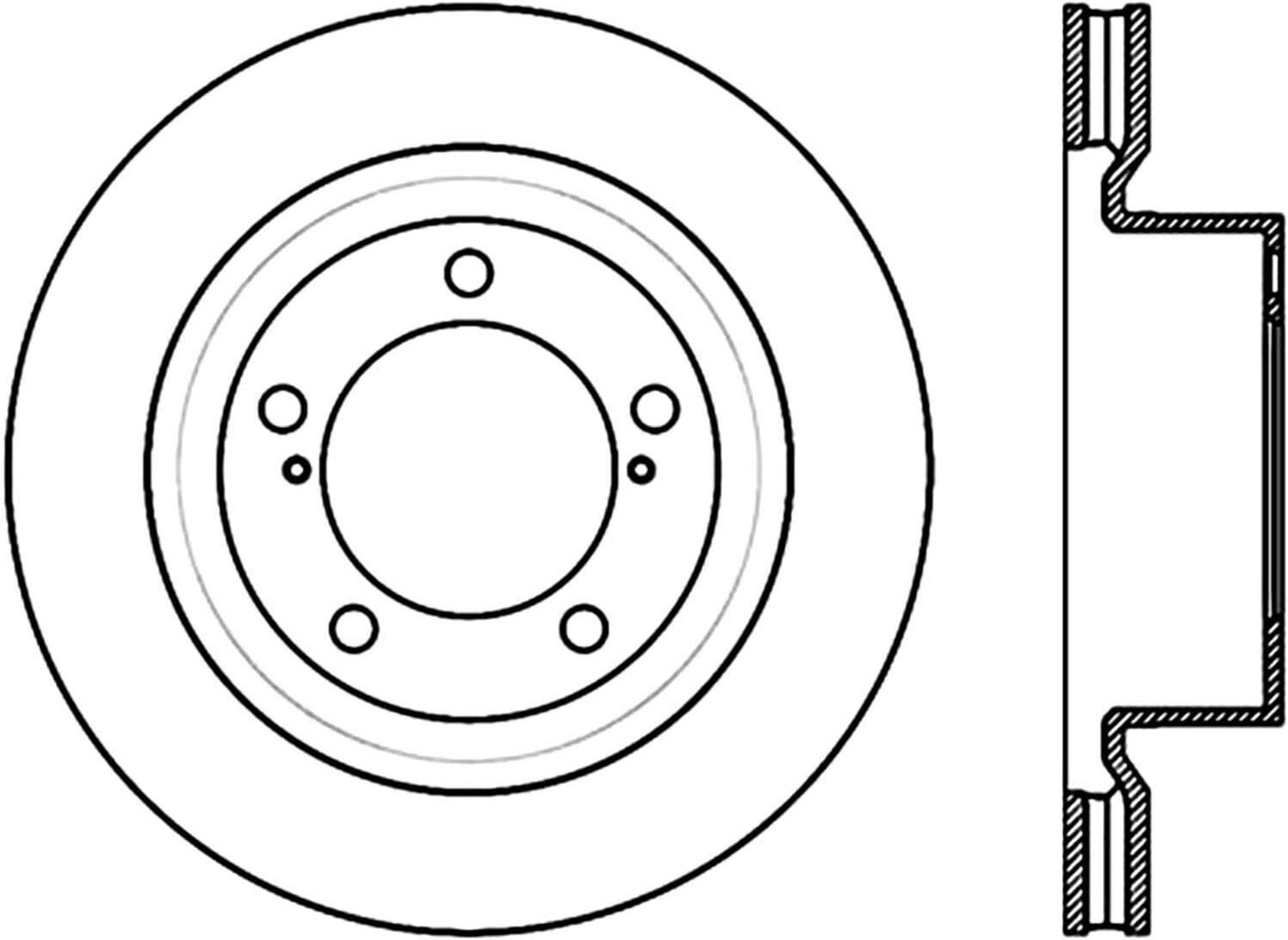 DuraGo BR900336 Front Vented Disc Brake Rotor Rotors Automotive ...