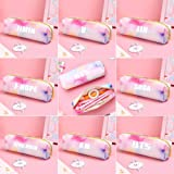 Youyouchard BTS Bangtan Boys Rainbow Color Students Large Capacity PU Leather Pencil Case Pen Bag Pouch Stationary Case Makeup Cosmetic