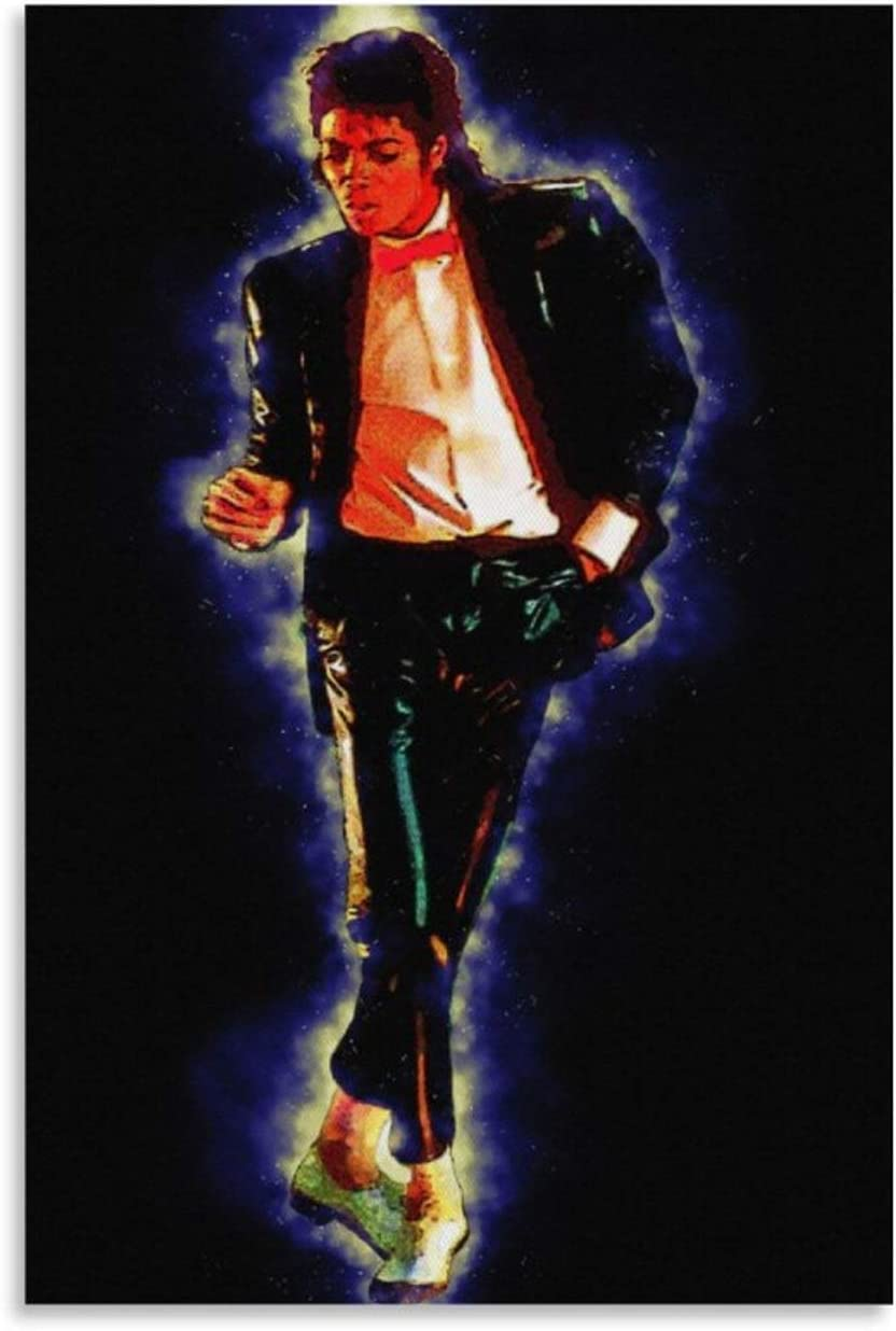 IFUNEW Spirit of Michael Jackson Canvas Art Poster and Wall Art Picture Print Modern Family Bedroom Decor Posters 12x18inch(30x45cm)