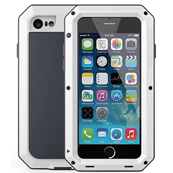 separation shoes babfe 662b9 iPhone 6 Plus/6S Plus Case,Mangix Gorilla Glass Aluminum Alloy Protective  Metal Extreme Shockproof Military Bumper Finger Scanner Cover Shell Case  for ...