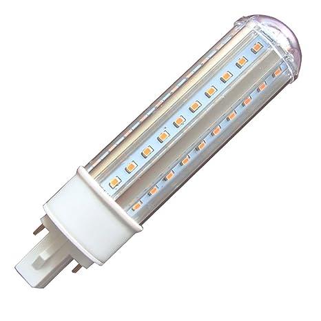 Akaiyal G24 led Lámpara PLC Luz de Maíz Regulable 11W AC220-240V Blanco Cálido 3000K