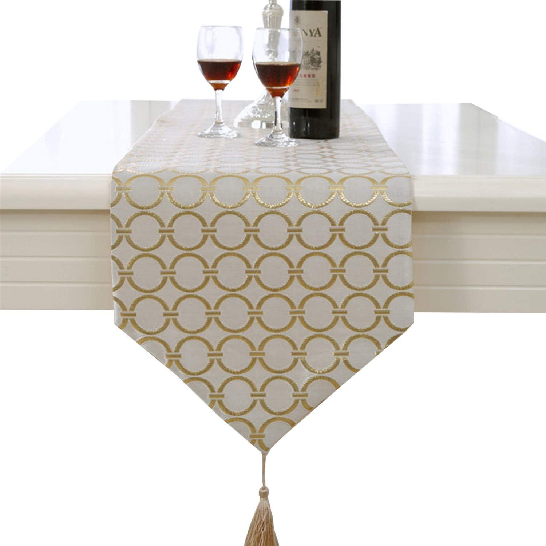 Luxe gland cercle dor/é d/écoration chemin de table mariage