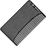 Go-Comb - Wallet Comb - Sleek, Durable Stainless Steel Hair + Beard Comb - Black