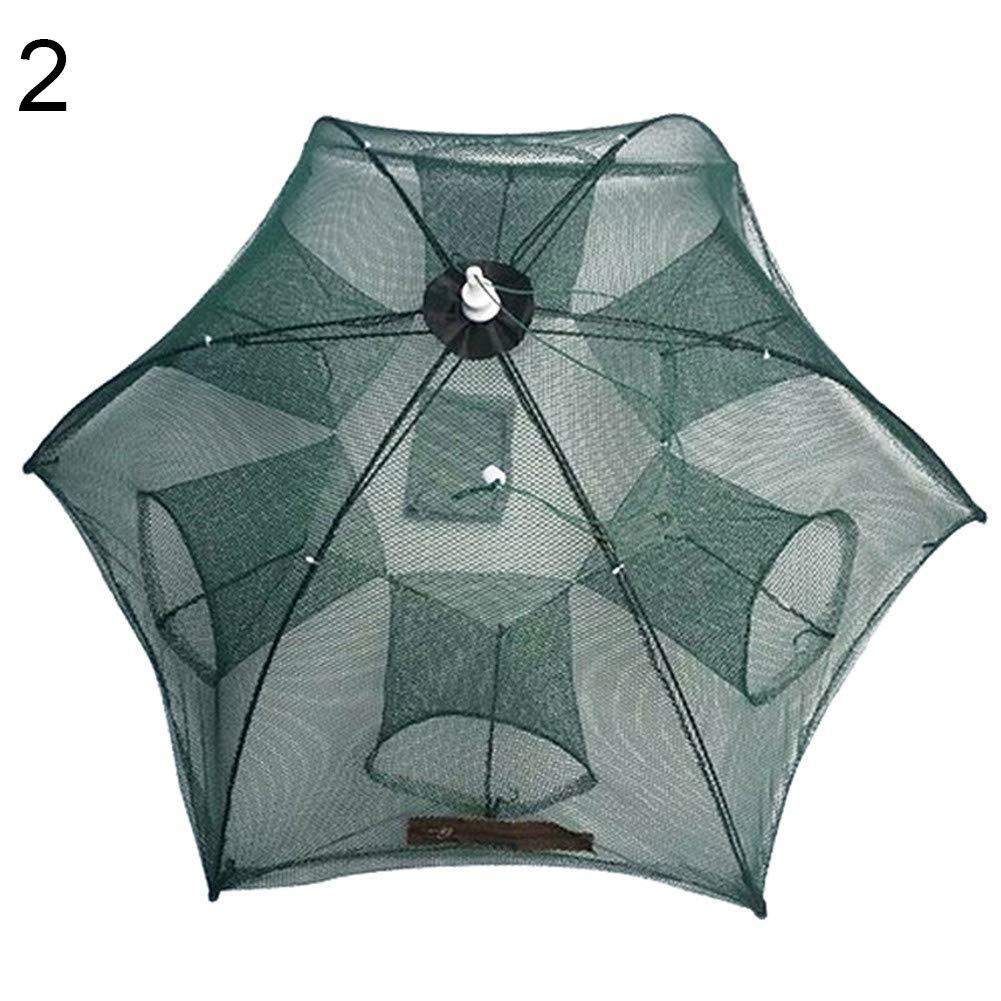 LBgrandspec Fishing Trap Net,Portable Folding Automatic Fishing Net Fish Minnow Shrimp Crab Mesh Trap Tool-2 by LBgrandspec (Image #1)