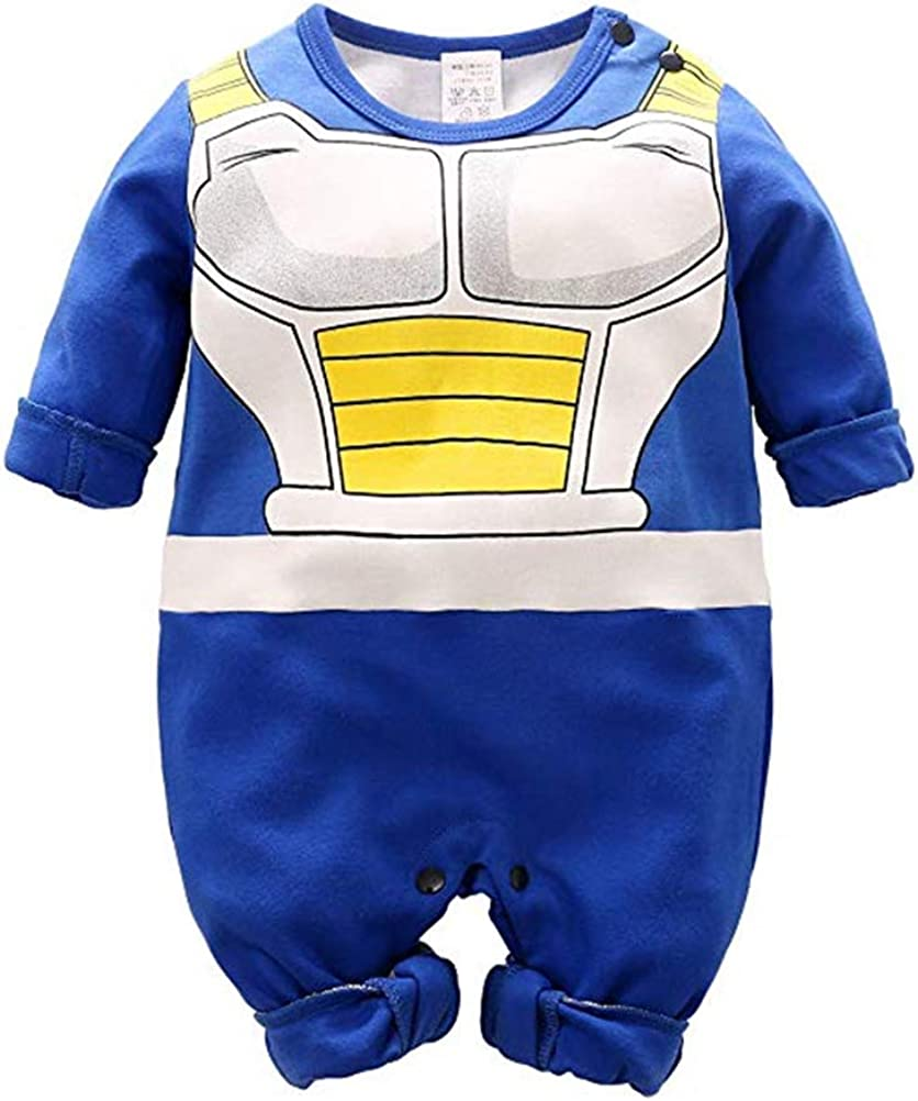 XIANGLIOOD Dragon Ball Z Baby Boy Romper Cartoon Cosplay Costume Inspired Infant Outfit Jumpsuit Baby Clothing