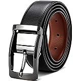 Ceinture réversible pour homme en cuir ceinture en noire mode ceinture chic le costume et aussi pour les jeans