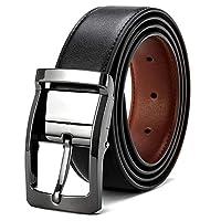 VICSPORT Cinturón negro para hombres Cinturón casual Cinturón de hebilla giratoria para cinturón