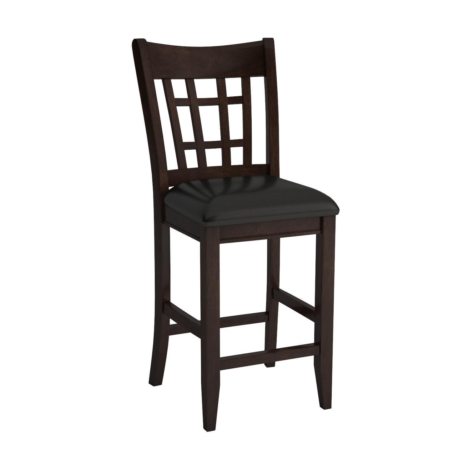 """Amazon Coaster Leather Look 2 Piece Pub Chair 24"""" height"""