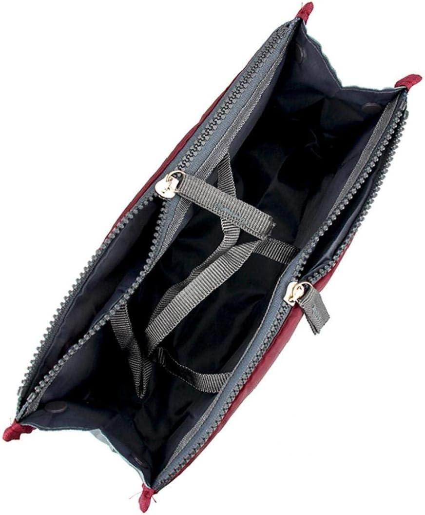 OMMO LEBEINDR 2 St/ück Komfortable Doppel-Rei/ßverschluss Handtasche Multifunktions-Sorting-Verfassungs-Beutel-bewegliches Gep/äck Organisator-Einsatz mit 13 Komponenten
