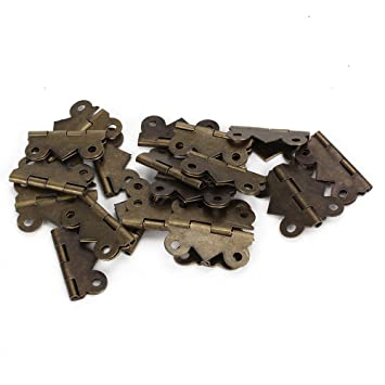 Bronze Tone Metall Schubladen Scharniere 20 St/ück