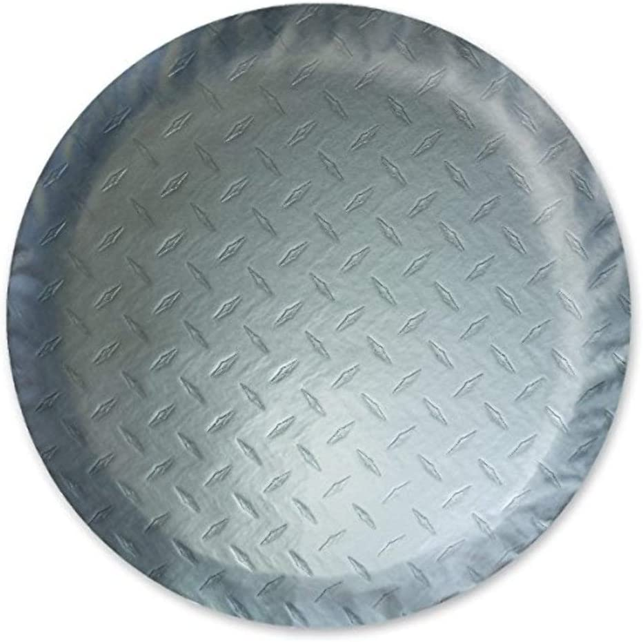Fits 25 1//2 Diameter Wheel ADCO 9758 Silver Diamond Plated Steel Vinyl Spare Tire Cover L,