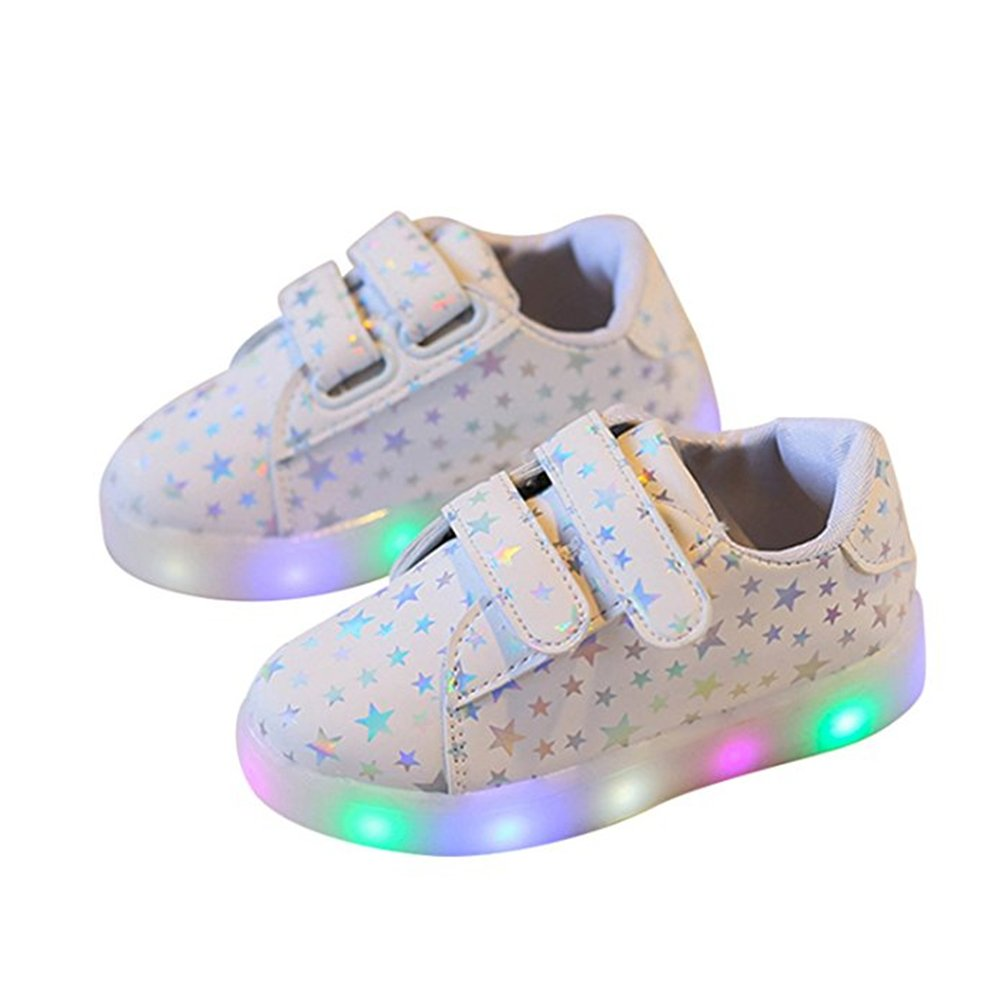 Chickwin Chaussures Enfant, LED Chaussures Lumineuse Bébé Enfant Unisexe Confortable Sneakers Clignotant LED Chaussures