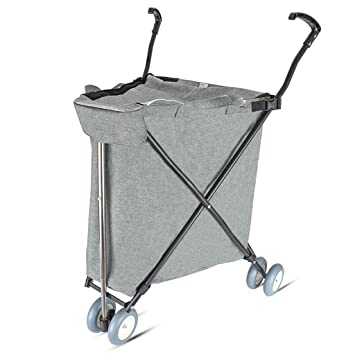 b035d1e8b8c1 Amazon.com: Collapsible Push Folding Utility Wagon Trolley Luggage ...