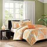Intelligent Design Senna Comforter Set, King/California King, Orange