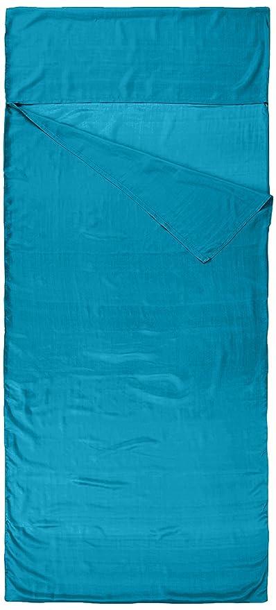 Nod-Pod Saco de dormir de seda 100% de seda natural - Sábanas para sacos de dormir - Negro: Amazon.es: Deportes y aire libre