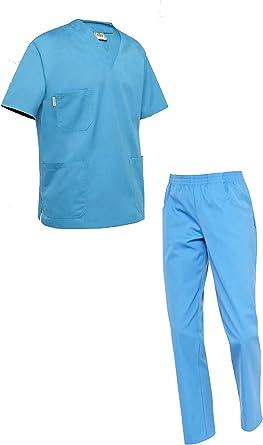 Uniforme Sanitario para Hombre. Pijama Completo para Enfermero, Médico, Hospital.
