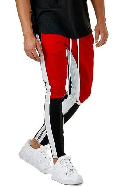 87146448eea70 GETHIS Men Fashion Color Block Patchwork Jogging Pant Sports Hip Hop Track  Trousers Long Slacks Slim Fit