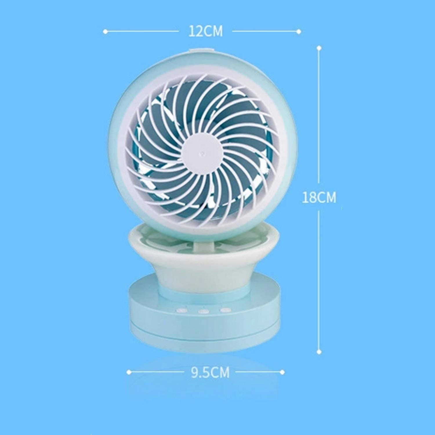 Color : Pink Air Cooler Small Fan Mute Mini Air Cooling Fan USB Colorful Lights Fan Summer Home Bedroom Study