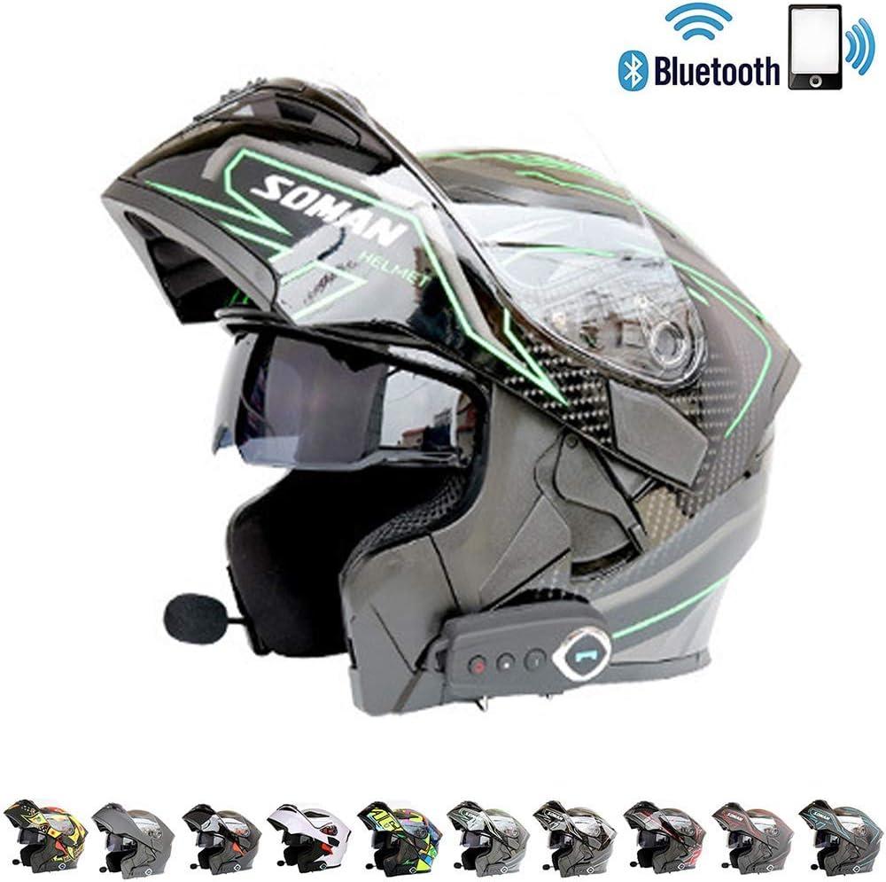 SOSONO Bluetooth Integrado certificación Modular de la Motocicleta del Casco ECE22.05 Norma de Seguridad Dot - la Cara Llena compitiendo con el Casco de la Motocicleta en General