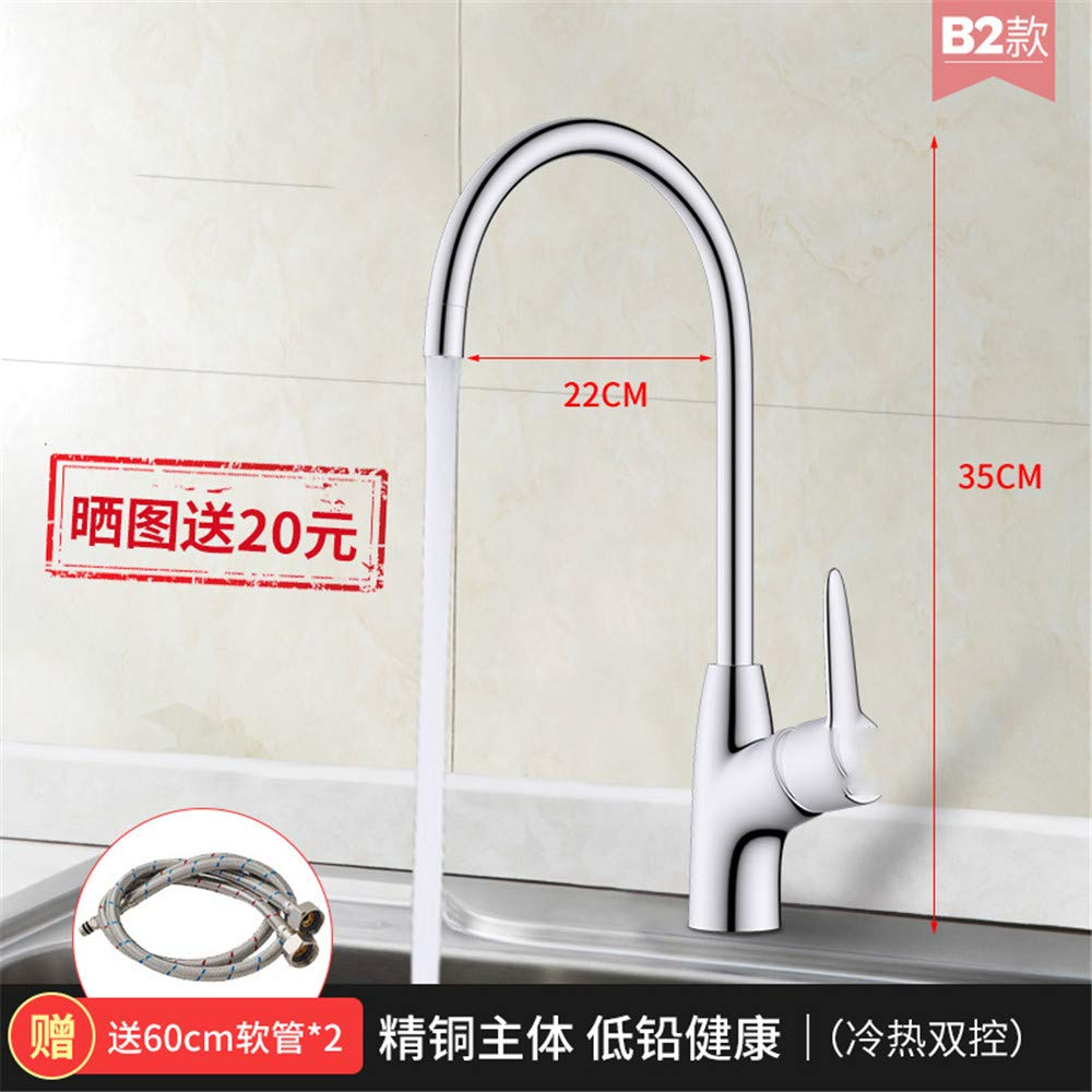 Guolaoer Faucet Hot And Cold Bathroom Kitchen Household   Stainless Steel