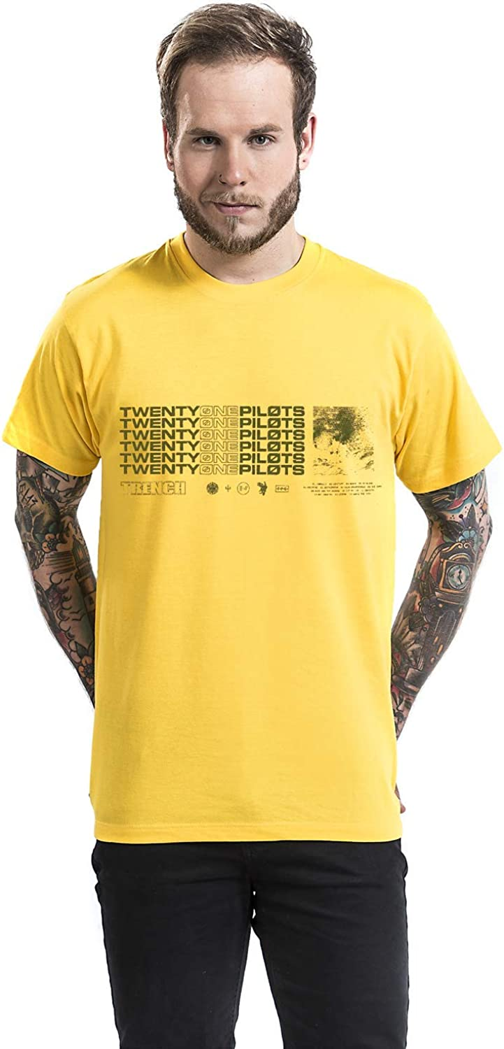 Twenty One Pilots Stacker Camiseta Amarillo L: Amazon.es: Ropa y accesorios
