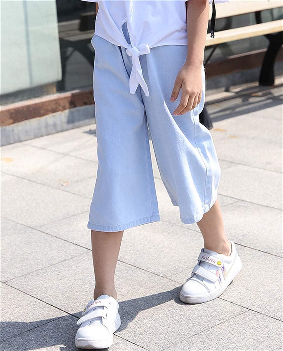 3-12 Years SANGTREE Girls Capri Wide Leg Palazzo Jeans