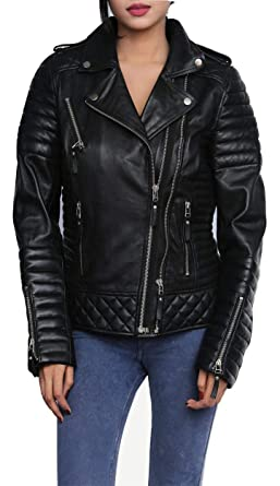 Amazon.com: LeatherJacket4 Kay Michael Sleek - Chaqueta de ...