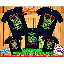 TMNT Ninja Turtles birthday shirt, Teenage Mutant Ninja Turtles birthday tshirt, tmnt theme party shirts, ninja turtles family matching shirts