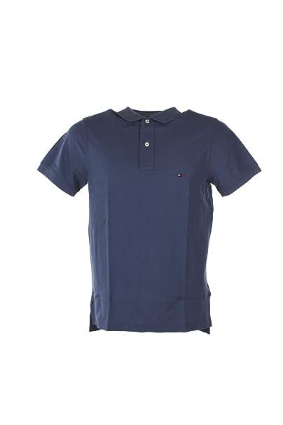 Tommy Hilfiger MW0MW09741 Polo Hombre Azul XL: Amazon.es: Ropa y ...