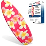 """Ezy Iron Padded Ironing Board Cover Thick Padding, Slashes Your Iron Time, Heat Reflective Fits Standard and Large Boards 15"""" x 54"""" Premium Heavy Duty Cover and Pad"""