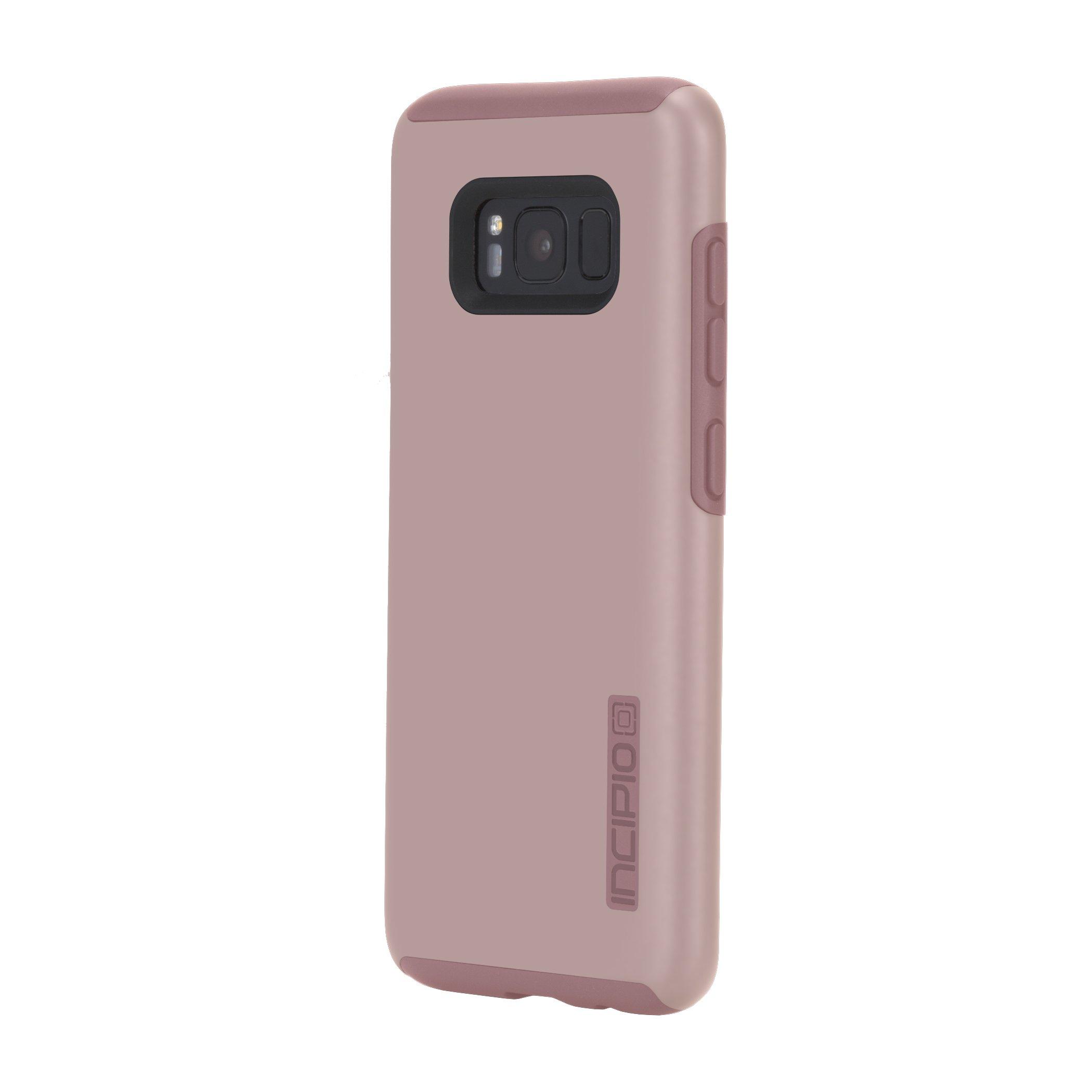 Samsung Galaxy S8 Case, Incipio [Hard Shell] [Dual Layer] DualPro Case for Samsung Galaxy S8-Iridescent Rose Gold