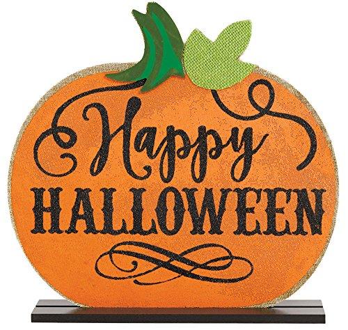 Amscan Halloween Jack-O-Lantern Table Sign, One Size ()