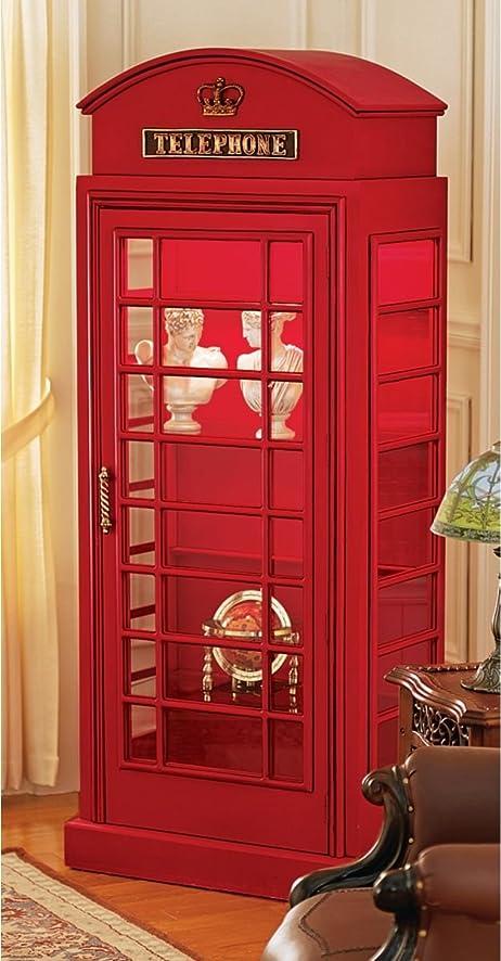 Amazon.com: 6ft British Collectible Telephone Booth Display Shelf ...
