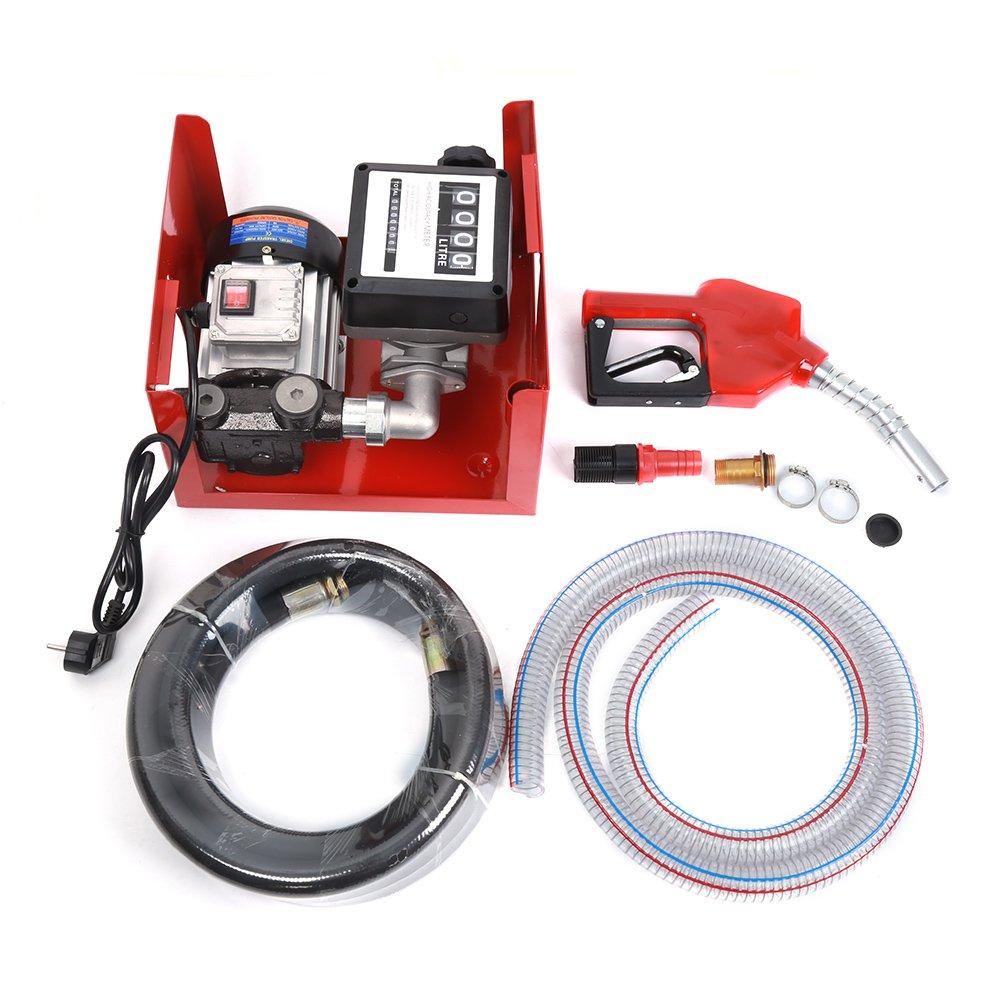 POPSPARKk Dieselpumpe Ö labsaugpumpe 230V/550W 60l/min selbstansaugend Heizö lpumpe Set Nicht Zutreffend