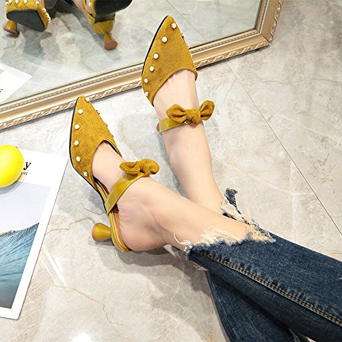 Yalanshop Pour Chaussures Femmes Assorties Avec Sandales Perles Pantoufles Bonnets Et Hauts Talons 44qYdwxrX