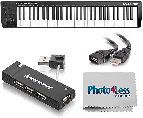 M-Audio Keystation 61 MK3 - Controlador MIDI USB (61 teclas, semipesado)