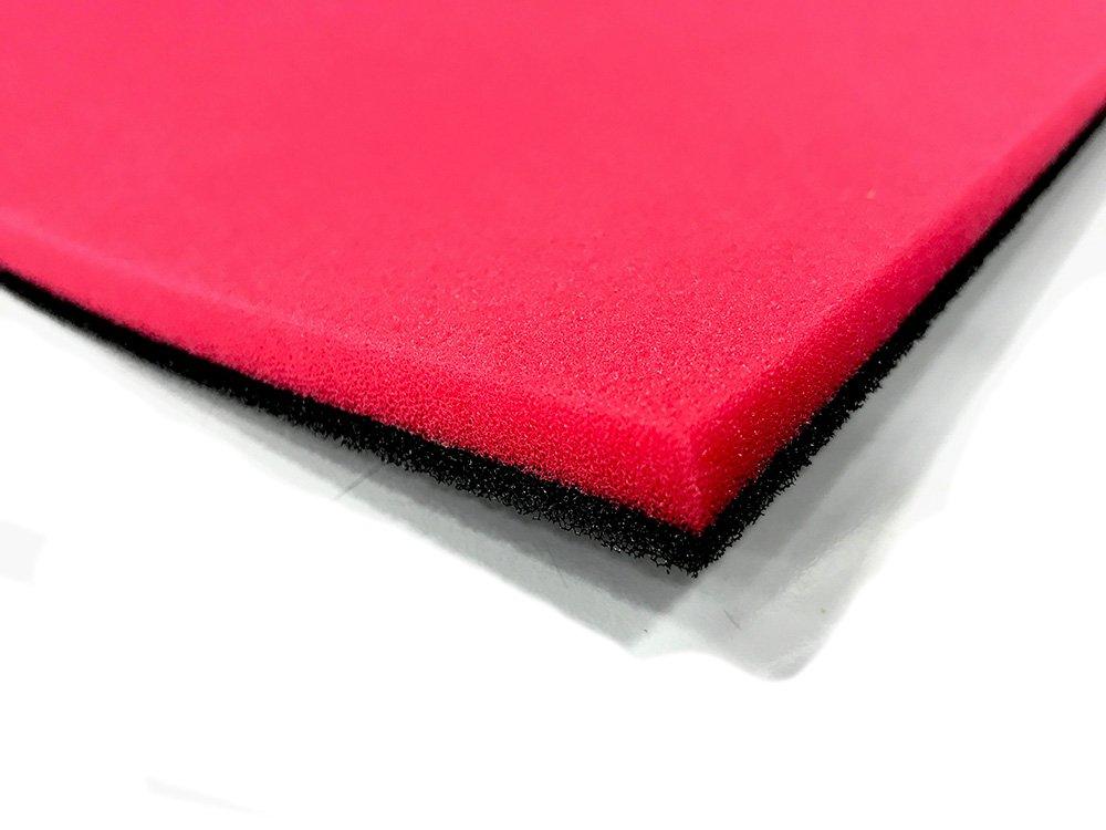 Plancha de espuma para hacer filtros de aire 330 X 280 x 14 mm Dos Espesores RQ